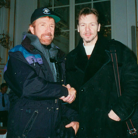 rare photo chuck norris billy murray fightmag