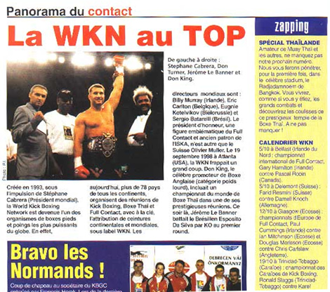 WKN Kickboxing on the Top in the United States