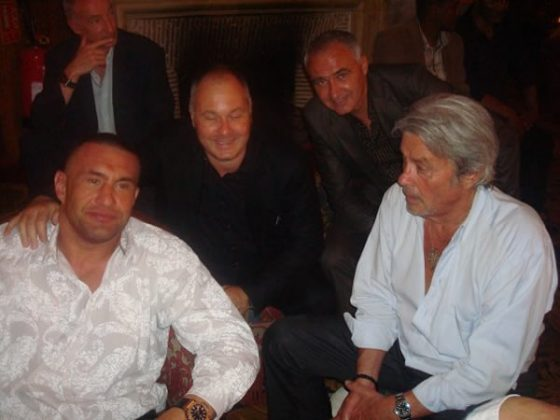 Jerome Le Banner, Olivier Muller, Stephane Cabrera and Alain Delon