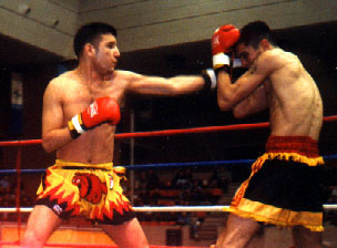 Fighter of kickboxing Team Cabrera