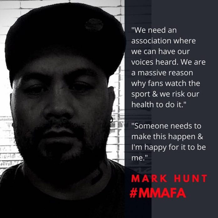 Mark Hunt Directs Fighters Association