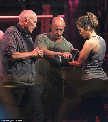 Jennifer Lopez Appears as Boxer for Shades of Blue