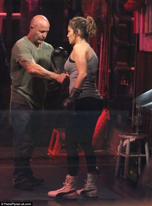 J. Lo Films Boxing Scenes For NBC's Shades of Blue