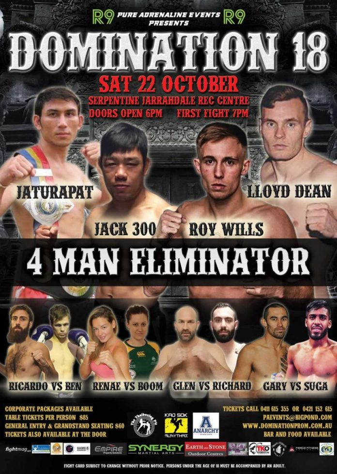 Domination 18 Perth Launches Fight Week