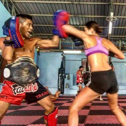 Mia Kang Throws Thai Ebows