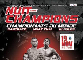Aurieng vs Hutnik for WKN Kickboxing World Title