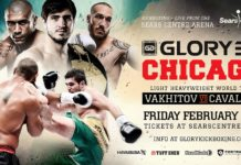 Pawel Jedrzejczyk and Lukasz Plawecki of Poland take part in Glory 38 Chicago