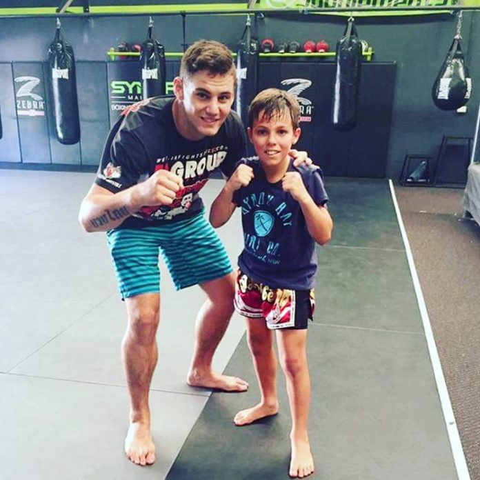 Toby Smith Teaches Kids Muay Thai Classes