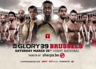 Cedric Doumbe takes on Yoann Kongolo at Glory 39 Brussels