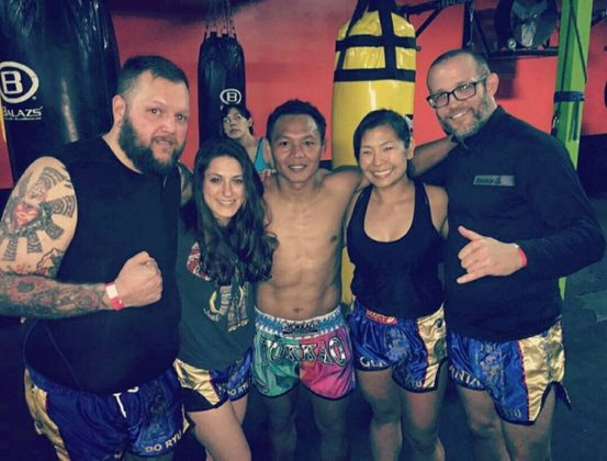 King of Muay Thai Saenchai inspires American girl fighter Jessica Crum