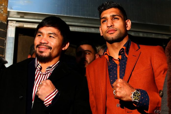 Manny Pacquiao faces off Amir Khan in his next fight
