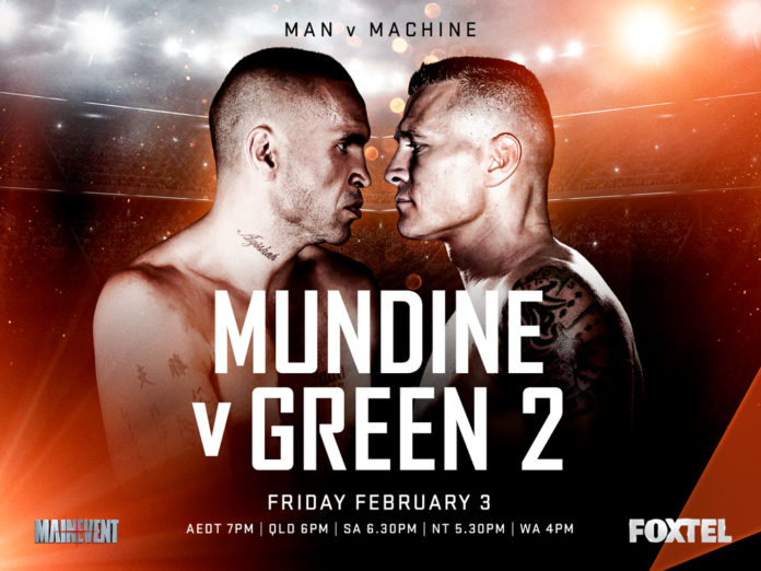 Anthony Mundine vs Danny Green 2 airs live on Main Event Channel 521