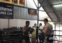 Muay Thai star Buakaw sparring Belarusian world champion Vitaly Gurkov