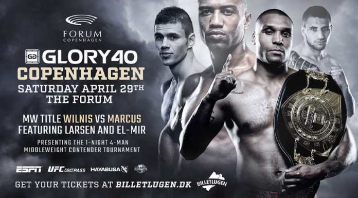 Jason Wilnis vs Simon Marcus Headlines Glory 40 Kickboxing Copenhagen