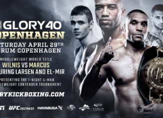 Kickboxing promotion Glory returns to Denmark