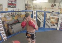Muay Thai fighter John Wayne Parr training for his Bellator Kickboxing debut