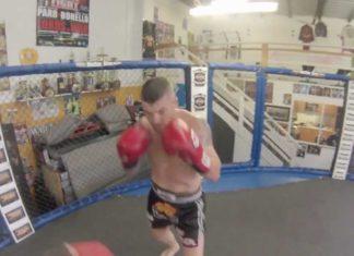Muay Thai fighter John Wayne Parr training for his Bellator Kickboxing debut