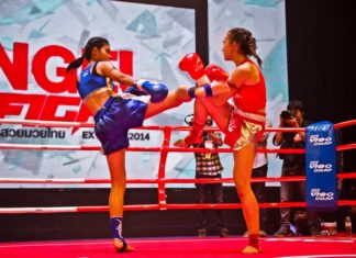 Female muaythai contest World Muaythai Angels begins the second season
