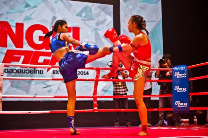Female muaythai contest World Muaythai Angels begins the second season
