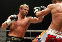 Muay Thai heavyweights Nathan Corbett and Steve McKinnon square off in the rematch