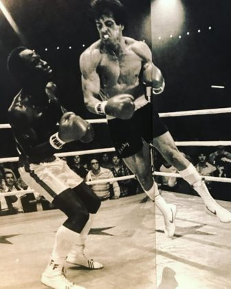 Sylvester Stallone throws left hook in Rocky 2