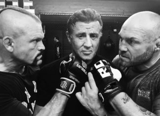Sylvester Stallone posts a photo with Randy Couture and Chuck Liddell