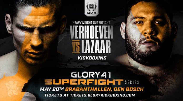 Verhoeven vs Lazaar headlines Glory 41 kickboxing promotion in Holland