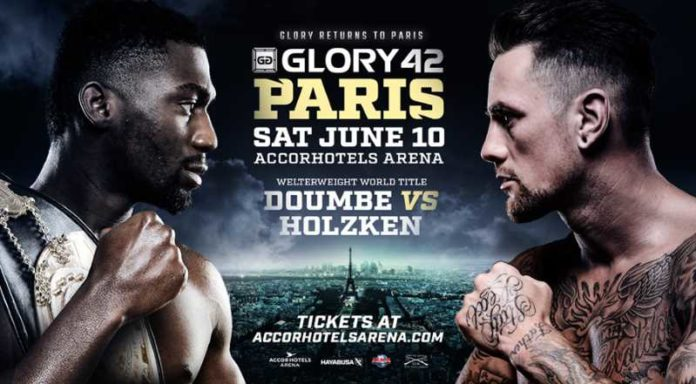 Kickboxing promotion Glory 42 Paris is held on June 10