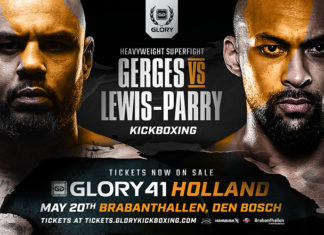 Hesdy Gerges vs Chi Lewis-Parry headlines kickboxing promotion Glory 41 Holland