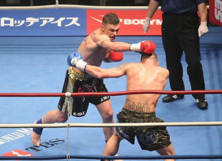 John Wayne Parr reflects back on his knockout victory against Shane Chapman at K-1 kickboxing in Japan