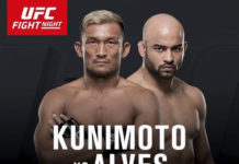Kunimoto vs Alves tops up UFC Auckland fight card