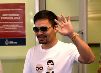 Manny Pacquiao visits Australia with the promotional tour ahead of his boxing encounter with Jeff Horn