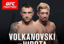 Volkanovski vs Hirota tops up UFC Auckland fight card