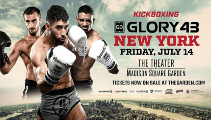 Kickboxing event Glory 43 is held on Friday July 14 live on ESPN from Madison Square Garden in New York