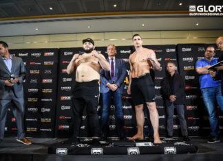 Kickboxing gala Glory 41 Holland official weigh-in results