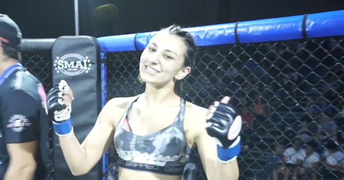 Nadia Kassem partakes in UFC Auckland Lewis vs Hunt