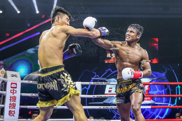 Muay Thai star Buakaw Banchamek faces off Kong Lingfeng at Kunlun Fight 62 in Bangkok