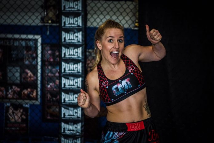Jemma Lee Byard partakes in Caged Muay Thai 10