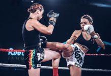 Lilian Dikmans Muay Thai fighting