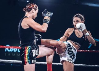Lilian Dikmans Muay Thai fighting