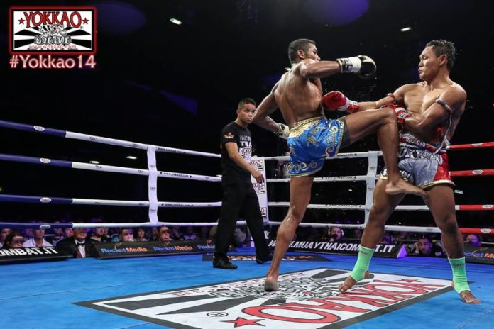 Massaro Glunder partakes in kickboxing gala Glory 42 Paris