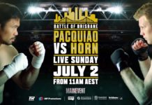 Pacquiao vs Horn live on Main Event