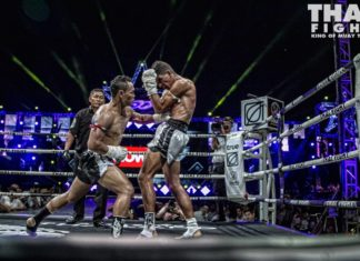 Muay Thai star Saenchai cartwheel kick knockout video