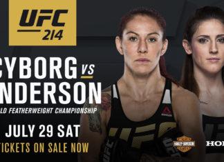 Cyborg vs Anderson co-headlines UFC 214