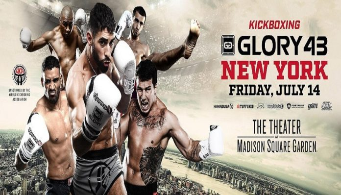 Kickboxing Glory 43 fight card