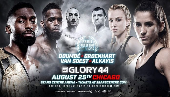 Glory 44 fight card features two kickboxing championships