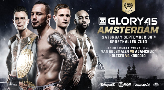 Kickboxing event Glory 45 Amsterdam is held on September 30
