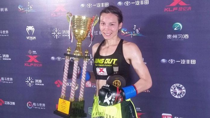 Laetitia Madjene upset with the kickboxing promotion Kunlun Fight