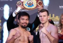 Pacquiao vs Horn weigh-in results