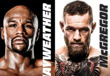 Boxing fight Floyd Mayweather vs Conor McGregor official poster